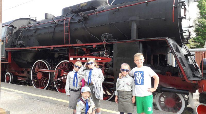 Zuchy na pokładzie lokomotywy